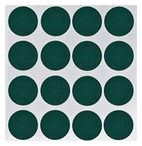 haggiy peha Flock-Filz in grün, 0,35 mm Stärke, Durchm. 22 mm, 1 Streifen a' 16 Pads, selbstklebend