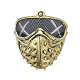 Halloween Punk Devil COS Anime Stage Mask Rivet Dead God Street Rivet Death Masks Guard Dogs Cosplay Party Face Mask Accesorio, Oro, España