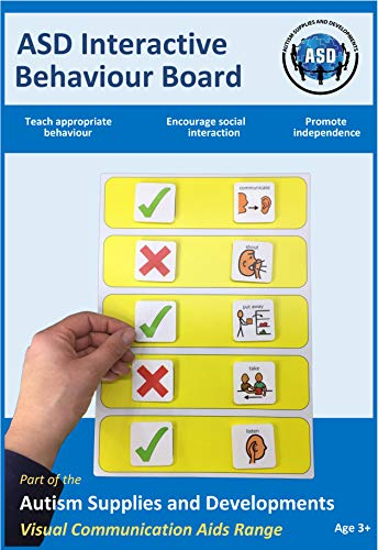 Plastic Visual ASD Interactive Behaviour Rules Board (Picture Communication Symbols)
