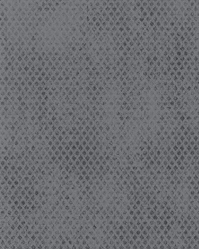 Tapete Grau Grafisch - Blume, Blüte, Verzierungen, Pflanze, Karos - für Schlafzimmer, Wohnzimmer oder Küche - Made in Germany - Kollektion Catania von marburg - 10,05m x 0,53m - 58632
