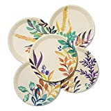 """Coterie Fall Paper Plates - Pretty Party Plates For Fall Birthday, Thanksgiving, Holiday - Fall Party Plates 