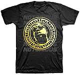 Photo de Defet Notorious B.I.G. Men's Gold Circle Slim Fit T-Shirt Black,X-Large par