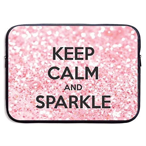 Waterproof Laptop Sleeve 13 Inch, Keep Calm and Sparkle Business Briefcase...