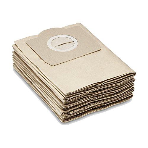 Bolsas de filtro de papel como 6.959-130.0 aptas para KÄRCHER WD2, WD3, MV2, MV3, A2054, A2201, etc. de la casa M&M Smartek Germany (5, papel).