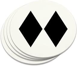 Double Black Diamond Skiing Experts Only Novelty Coaster Set