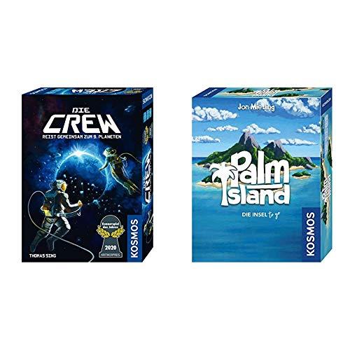 KOSMOS Die Crew kooperatives Kartenspiel, Kennerspiel des Jahres 2020 & 741716 - Palm Island, Die Insel to go, Spielt sich bequem in einer Hand, Kartenspiel für 1 bis 2 Spieler ab 10 Jahren