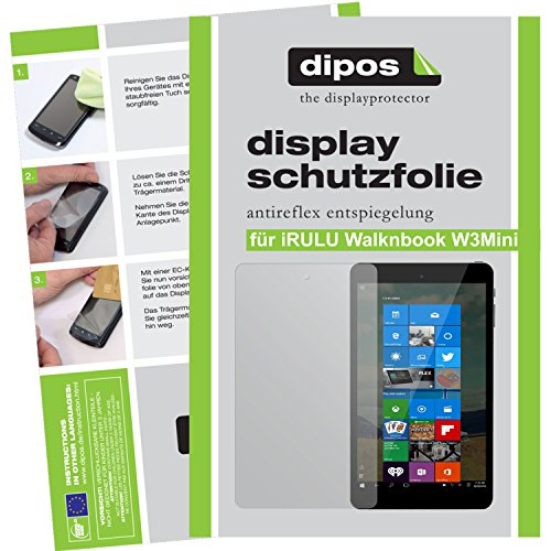 dipos I 2x Screen Protector matte compatible with iRULU Walknbook W3Mini (8 inch) Protection Films