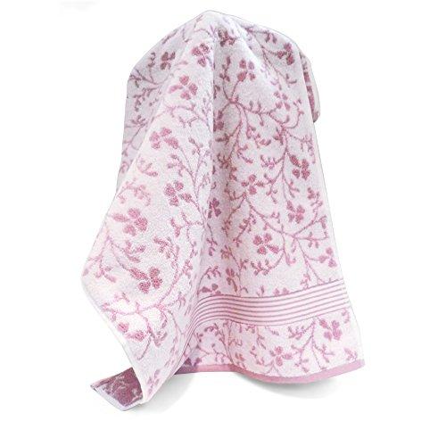 Handtuch, 50x 100cm Vintage Floral Rosa 550g/m2