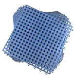 Set von 9Verschränkung Boden tiles- 11.75Zoll jeder Stein–Nass Bereiche wie Pool Dusche locker-room Bad Deck Terrasse Garage Boot. zuschneidbar: Mako-Line–Foghorn Konstruktion blau