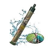 Purificador de agua al aire libre portátil esterilizado herramienta de purificación de agua recta bebida tipo pajita purificador de agua para acampar, C