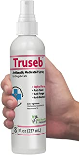 Truseb | #1 Chlorhexidine Spray for Dogs & Cats - Ketoconazole Anti Itch, Antiseptic, Antifungal, Antibacterial Medicated,Hot Spots, Ringworm, Yeast, Fungal Infections, Acne Pyode