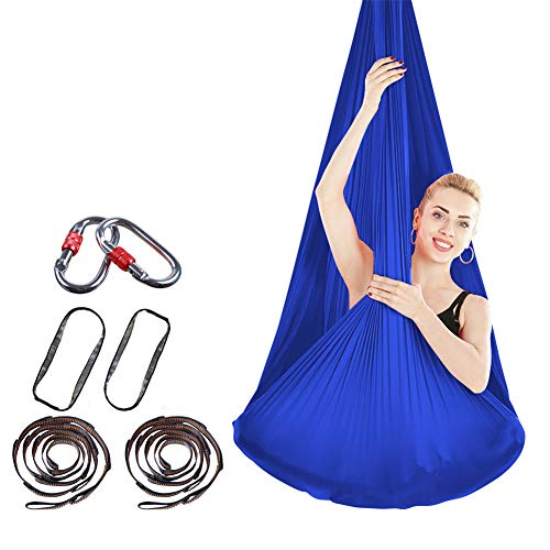 Best Review Of XIONGGG Aerial Yoga Hammock Elasticity Inversion Exercises for Home & Gym Fitness Inc...