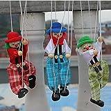 Sharplace 2 x 1pc Juegos Educativos de Payaso Marioneta Títere Madera para Niños Clown
