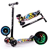 Scooter Detachable Children's Scooter Walker 3-Wheeled Light Music Scooter Adjustable Height Suitable 6-12