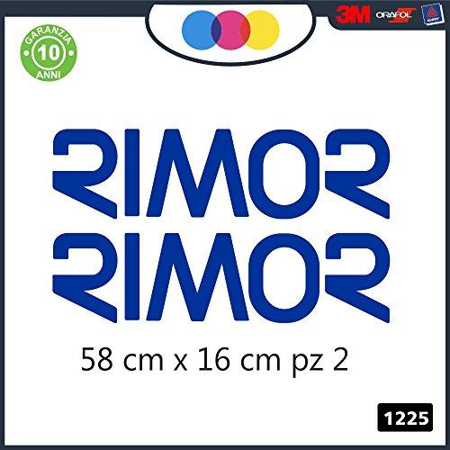2- ADESIVI - BLU - LOGO -RIMOR - PER CAMPER, FURGONI E VAN - - - Cod. 1225