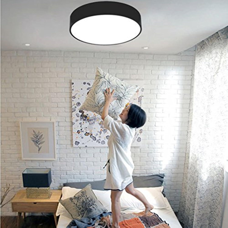 Runde LED geometrische Deckenleuchte schwarz wei (Farbe   30cm-B-Weiß light)
