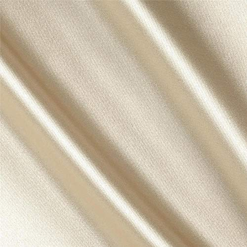 Stretch Charmeuse Satin Champagne, Fabric by the Yard