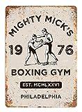 HiSign Mick's Boxing Gym Blechwand Zeichen Lustige Eisen