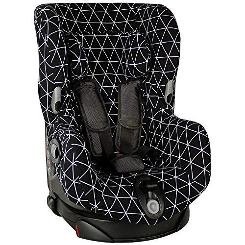 Bezug Maxi-Cosi Axiss Kindersitz Schwarz geometrisch Schweißabsorbierend und weich für Ihr Kind Schützt vor Verschleiß und Abnutzung Öko-Tex 100 Baumwolle