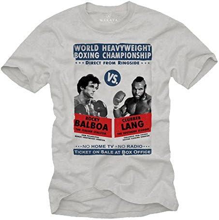 Ropa Gym Hombre - Camiseta Estampada Manga Corta - Rocky Balboa