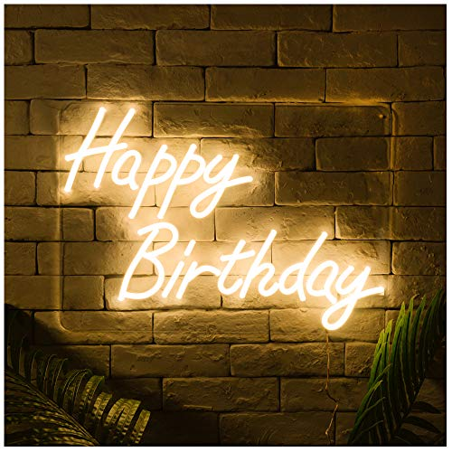 Happy Birthday LED Neon Sign Lights Art Wall Decorative Lights Party Decorate