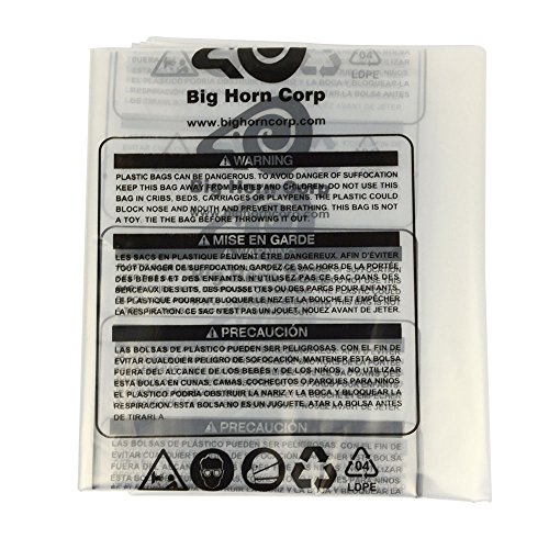 Big Horn 11789 Disposable Clear Plastic Dust Bags for Shop Fox and Other 19-1/2-Inch Units. 5-Pack