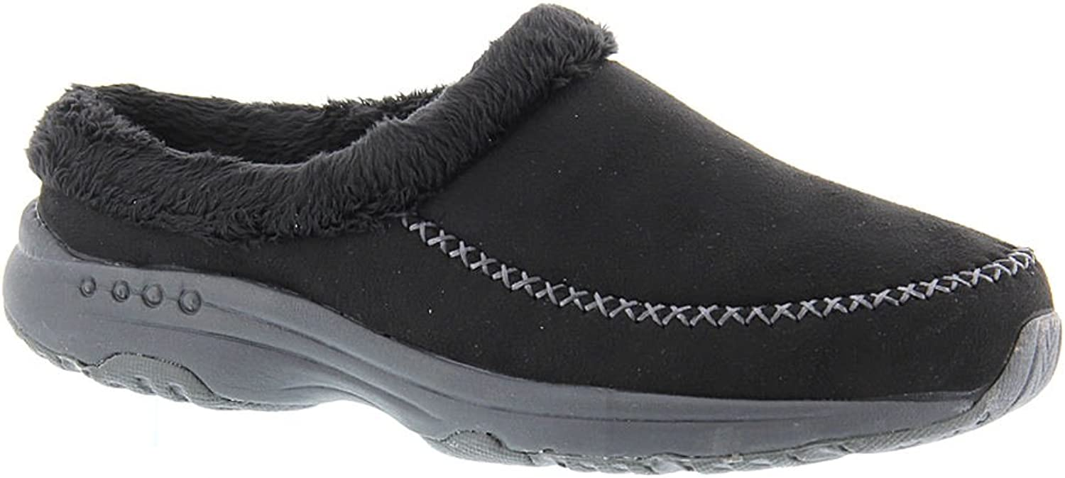 Easy Spirit Womens Travel Time Fabric Closed Toe Mules, Black, Size 9.0