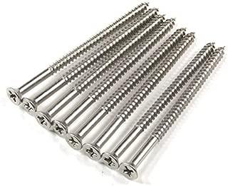 Satin Nickel Wood Screws #9 X 3 Inch - 24 Pack