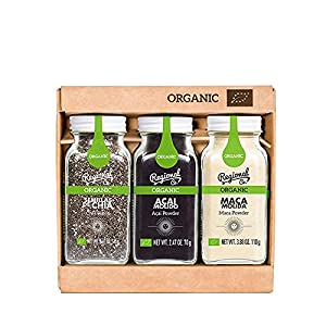 Regional Co. – Pack Orgánico de 3 Especies Superfood: Acai, Maca y Semillas de Chía. Sin Conservantes ni Colorantes, 305 g