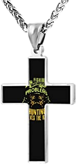 hunting and fishing cross necklace