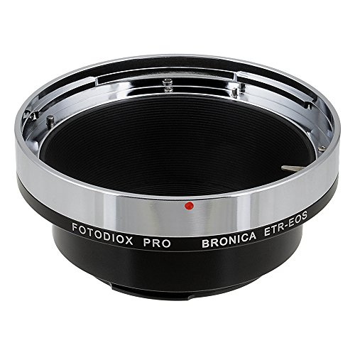 Fotodiox Pro Lens Mount Adapter, Bronica ETR Lens to Canon EOS Camera Mount Adapter, for Canon EOS 1D, 1DS, Mark II, III, IV, 1DC, 1DX, D30, D60, 10D, 20D, 20DA, 30D, 40D, 50D, 60D, 60DA, 5D, Mark II, Mark III, 7D, Rebel XT, XTi, XSi, T1, T1i, T2i, T3, T3i, T4, T4i, C300, C500 -  09LAETREOSP