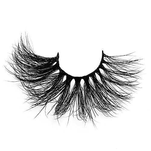 Hilai Falsche Wimpern, Nerz Wimpern Lange 3D falsche Wimpern Natürliche Dicke Wimpern Make-up-Tool 25mm Style4 langlebiger Blickwimper für Frauen Wimpern Set Lashes 3D