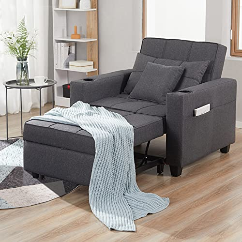 DURASPACE Sleeper Chair 3-in-1 Convertible Chair Bed Pull Out Sleeper Chair Beds 41