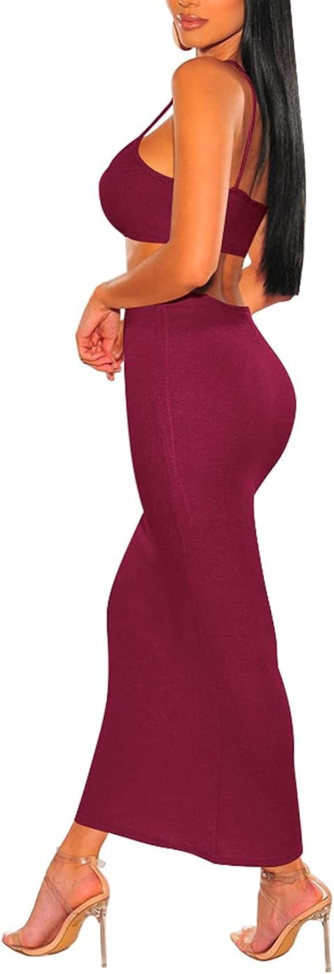 Sexy Cut Out V-Neck Maxi Dress for Women, Summer Backless Bodycon Club Dress Spaghetti Strap Bowknot Sleeveless Long Dress