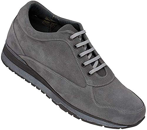 Masaltos Schuhe Herrenschuhe Die auf Unsichtbare Weise Ihre Körpergrösse bis zu 7 cm Erhöhen. Herrenschuhe mit Verstecktem Absatz. Modell Matera Grau 45