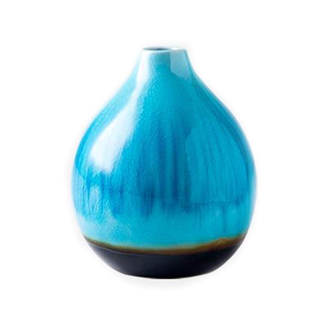 振る待って爆発物CPWJD 花瓶クリエイティブ花瓶の花北欧モダン?ミニマリストホームリビングルームのベッドルームセラミック花瓶 (Color : Blue)