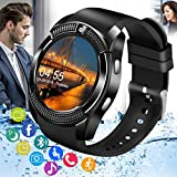 Pradory Smart Watch,Bluetooth Smartwatch Touch Screen Andriod Phones Watch with SIM Card Slot & Camera,Waterproof Wrist Phone Watch Fitness Tracker Sports Watch for Andriod iOS Phones Women Men Kids
