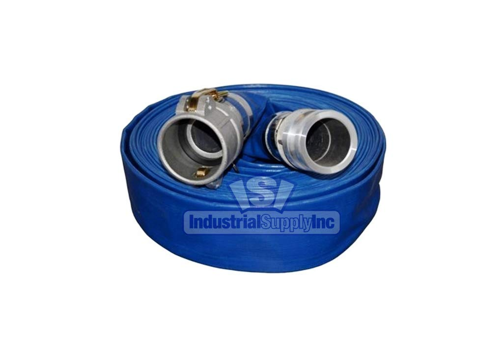 "Water Discharge Hose - 4"" x 100 FT - Camlocks - Blue - Industrial Supply: Industrial & Scientific"