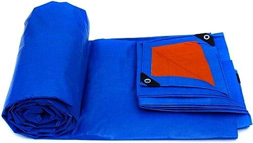 DLewiee Bache imperméable Rouge de bache de Toile de Tente de Toile imperméable Rouge Bleu