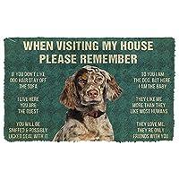 3Dイングリッシュセッター犬の家のルールを覚えておいてくださいドアマットインテリアドアマット家の装飾エリアマットクリスマスハロウィーン元日ギフト