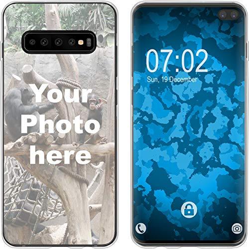 PhoneNatic Case Compatibile con Galaxy S10 Plus Custodia Personalizzata per telefoni cellulari Clear da Personalizzare con la Propria Foto