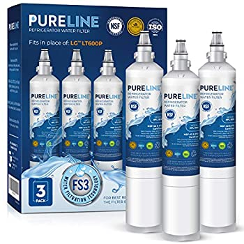 Pureline 9990 Water Filter Replacement for LG LT600P KENMORE 9990 5231JA2006B KENMORECLEAR 46-9990 5231JA2006A-S WFC2001 LSC27931ST LFX25960ST FML-2,RWF1000A  3 Pack