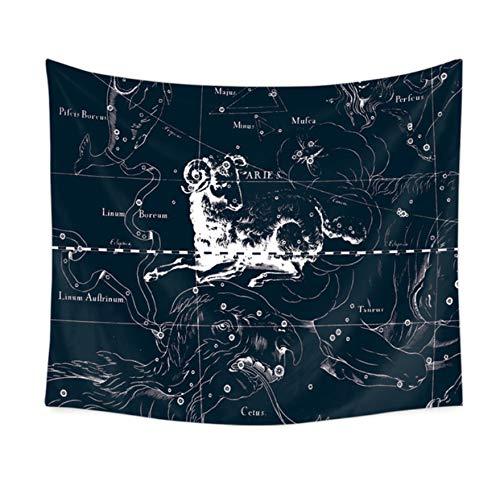 BOBSUY Ram Tapijten Constellatie Astrologie Wanddoek Tapijten Dorm Achtergrond Hoofdbord Thuis Woonkamer Slaapkamer Interieur Decoratie