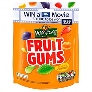 rowntree's fruit gums sweets sharing pouch, 150g Rowntree's Fruit Gums Sweets Sharing Pouch, 150g 51kASSirVVL