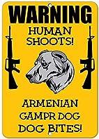 ノベルティサインギフト、アルメニアGampr犬犬人間シュート楽しい1692のみ駐車禁止標識警告注意ティンサインメタル屋外ストリート道路装飾