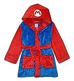 SUPER MARIO Little/Big Boys' Mario Plush Robe, Blue/Red, 10/12