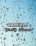 Camille Weekly Planner: Personalized Custom Name or Family Name 52 Weeks  Notebook Undated with To-Do List and Notes Daily Organizer Appointment Book Gifts For Men Women Boys Girls Marble Cover Print