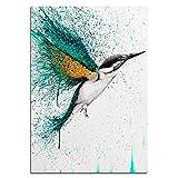 """Cuadro sobre lienzo Impresiones de aves coloridas abstractas Pinturas artísticas para pared Póster Sala de estar Cocina Decoración para el hogar 15.7 """"x23.6"""" (40x60cm) Sin marco"""