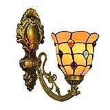 XYSQWZ Stil Vintage Barock Wandleuchten Farbige Perlen Glasmalerei Wandleuchte...