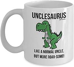 N\A Onkel-geschenken grappige koffiemok mok verjaardag het beste presenteert dinosaurussen Kerstmis - Unclesaurus als een ...